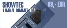 Showtec 1 Ch. Dimmer 10A Single MKII