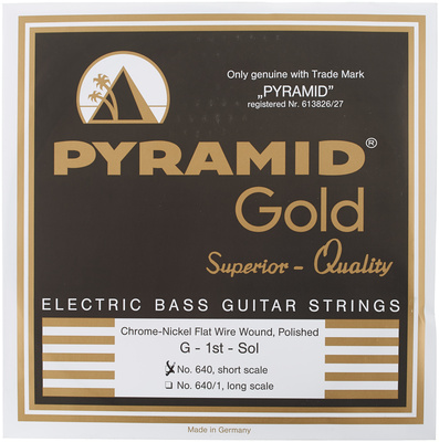 Pyramid Gold Flatwound 040-100