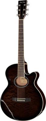 Harley Benton HBX5TBK Westerngitarre mit Cutaway