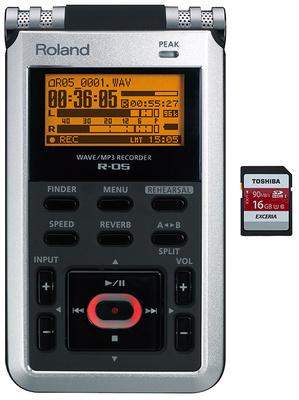 Roland R-05 4GB SD Card Bundle